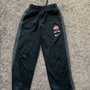 OHIO STATE Nike Dry Fit  Sweater Pants size M boys